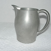REDUCED Vintage Rice Pewter Creamer Model 267