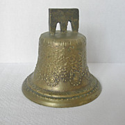 REDUCED Vintage Mexican Virgin Mary Bronze Bell