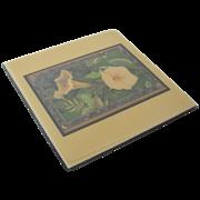 """Larry K. Stephenson """"Moonflower"""" Ceramic Tile"""