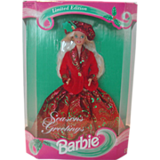 REDUCED Vintage 1994 Season's Greetings Barbie NIB