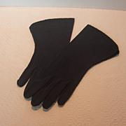 REDUCED Vintage Crescendoe Black Gloves