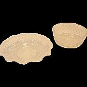 Pair of Vintage Hobnail Bowls
