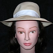 REDUCED Lord & Taylor Woven Fedora