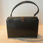 Vintage Black Lederer Handbag in Excellent Condition