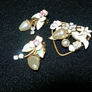REDUCED Vintage Austrian Brooch & Earring Set