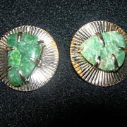 Vintage Coro Jade Earrings