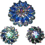 REDUCED Aurora Brooch and Earring Set
