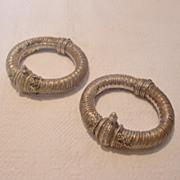 Two Handmade Alloy Hinged Bracelets