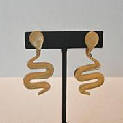 Vintage Vendome Snake Motif Clip Earrings