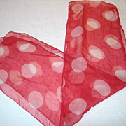 REDUCED Adorable Vintage Polk-a-dot Scarf