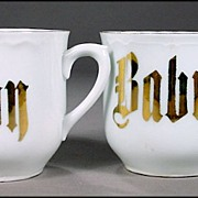 "Two Porcelain ""Baby"" Cups - Perfect for Twins, but SOLD INDIVIDUALLY"
