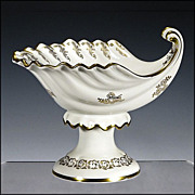 Footed Shell Shaped Compote with Gilded Decoration
