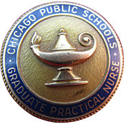 REDUCED Vintage Nursing pin from Chicago School