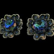 """Big Bold 1950""""s Judy Lee Flower earrings"""