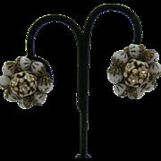 Hobe Glass bead and flower earrings