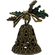 SALE Three dimensional Christmas Bell pin GERRY'S