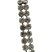 Weiss Clear Double row Rhinestone Bracelet