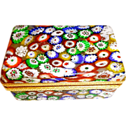 Vintage  Murano Millefiori glass box
