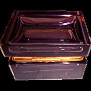 Murano Glass Amethyst Color Box
