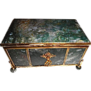 Very Large Antique Moss Agate box