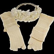 Exquisite French Silk Wedding Gloves