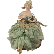 SALE Beautiful German Half Doll with Legs and Arms Away
