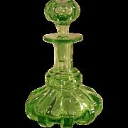 SALE Antique 1800's Green Perfume Bottle Boston & Sandwich /Flint