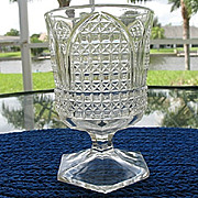 SALE Antique Open Sugar Cathedral Pattern Bryce
