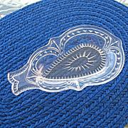 SALE EAPG Aurora Pattern Fish Shape Pickle Dish 1888