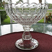 SALE Flint Glass 1859 Argus aka Thumbprint 7.25 in.