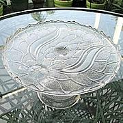 Antique 1870s Garden of Eden Cake Stand  Portland Glass
