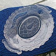 Garden of Eden 1870s Bread Plate Portland Glass