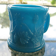 Toy Cup Opaque Blue EAPG Gooseberry Variant 1887