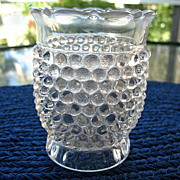 Hobnail with Thumbprint Spoon Holder 1880s