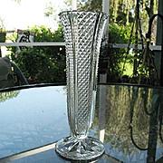 SALE Diamond Paneled Bud Vase 10 in.
