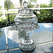 Antique Jam Stand Covered Compote Thompson 1890
