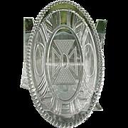 Beaded Oval Window aka Argyle Celery Relish Tray Bryce 1885