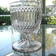 Goblet Later Prism with Diamond Point Bryce Walker & Co.