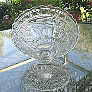 Bird and Strawberry 6 in. Open Compote  1914 Indiana Glass