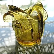 Old Gold Saddle on Barrel Novelty Toothpick Holder