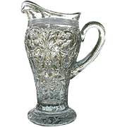 SOLD McKee Rock Crystal Clear Lemonade Pitcher 11.5 tall