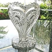Imperial Glass Zippered Heart Vase 5 in.  EAPG