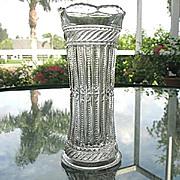 Tarentum Celery Vase 6.5 Strigil Pattern 1892