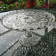 Feather Duster Pedestal Cake Stand U.S. Glass 1895