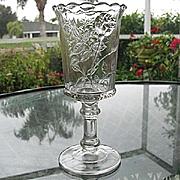 Cornucopia  Pedestal Celery Vase 1884