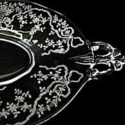 Fostoria  Crystal Oval Tray Corsage Pattern