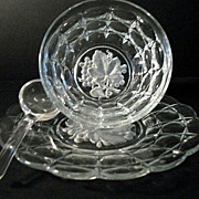 Indiana Glass Condiment 3-Pc Constellation Pattern