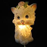 SOLD Lefton White Kitty Night Light Lamp