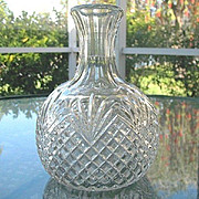 SALE EAPG Water Jug Wine Carafe Diamonds and Fans