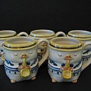 Otagiri 6 Jazzy Pigs or Swinging Swine Coffee Cups